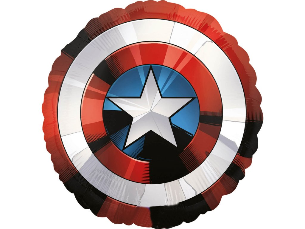 foliovy balonek captain america stit 71cm 3484101
