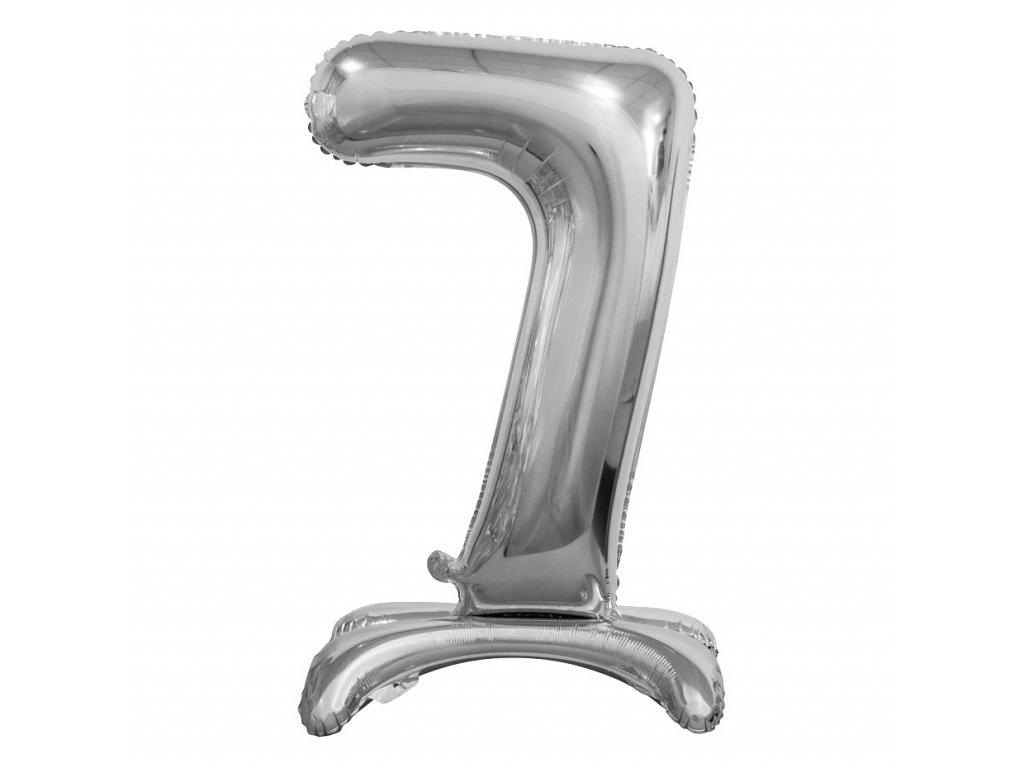 balonek foliovy cislo stojici 7 74cm stribrny metal BC ASS7 1