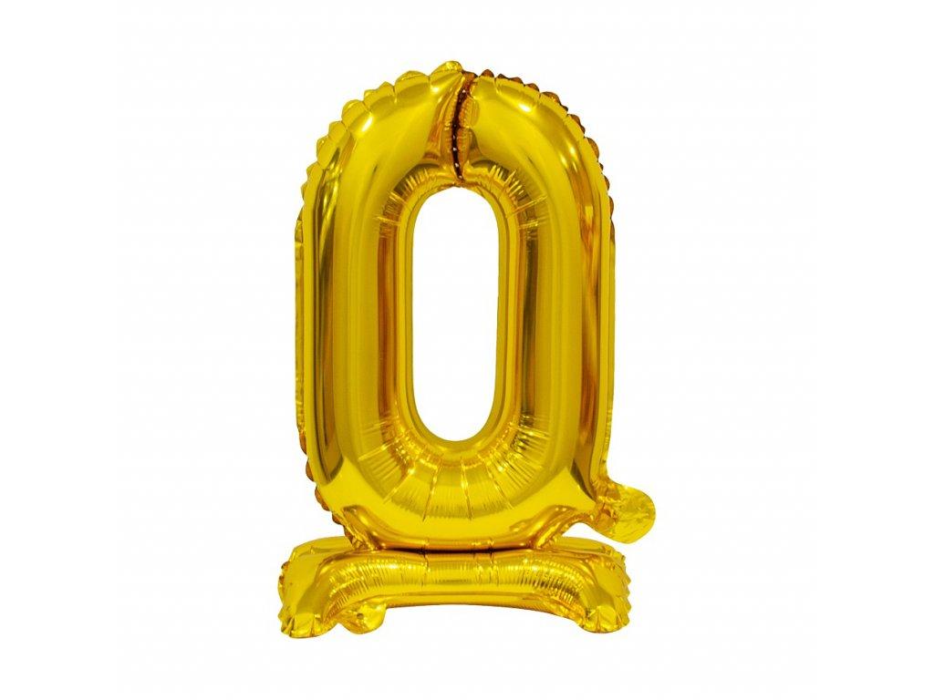 balonek foliovy cislo stojici 0 38cm zlaty metal BC ATZ0 1