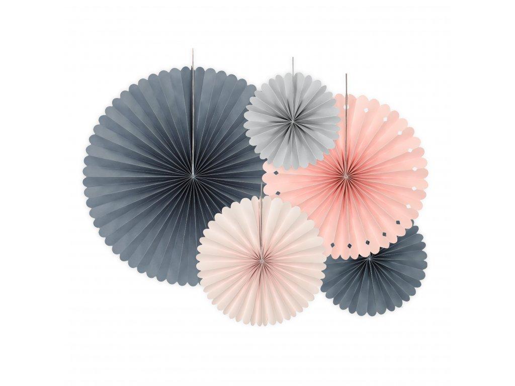 Rozety dekorativní Elegant Bliss mix barev a velikostí, 5 ks
