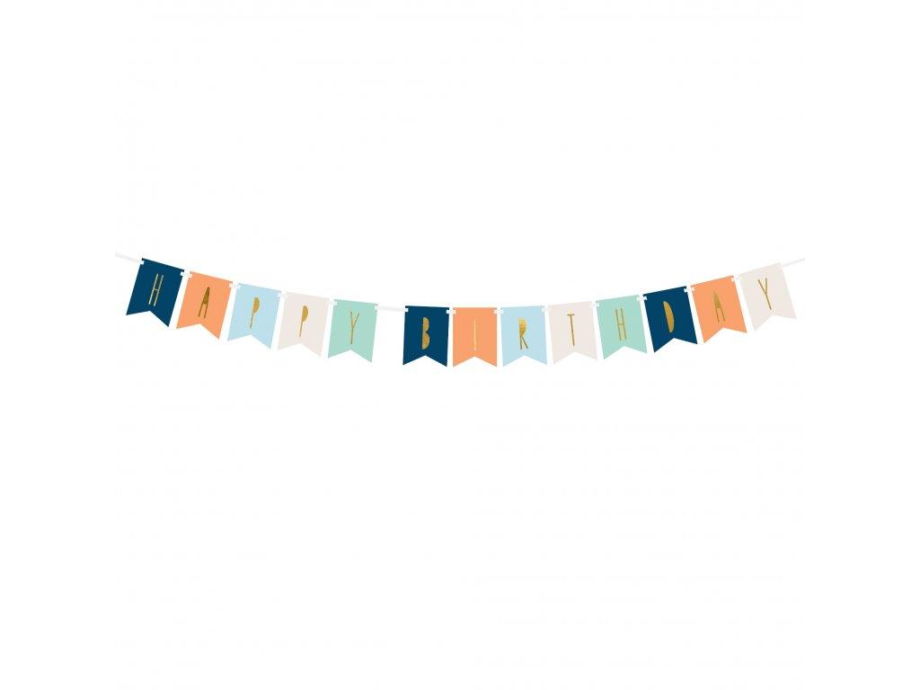 banner happy birthday mix barev 11,5x140cm GRL59 01