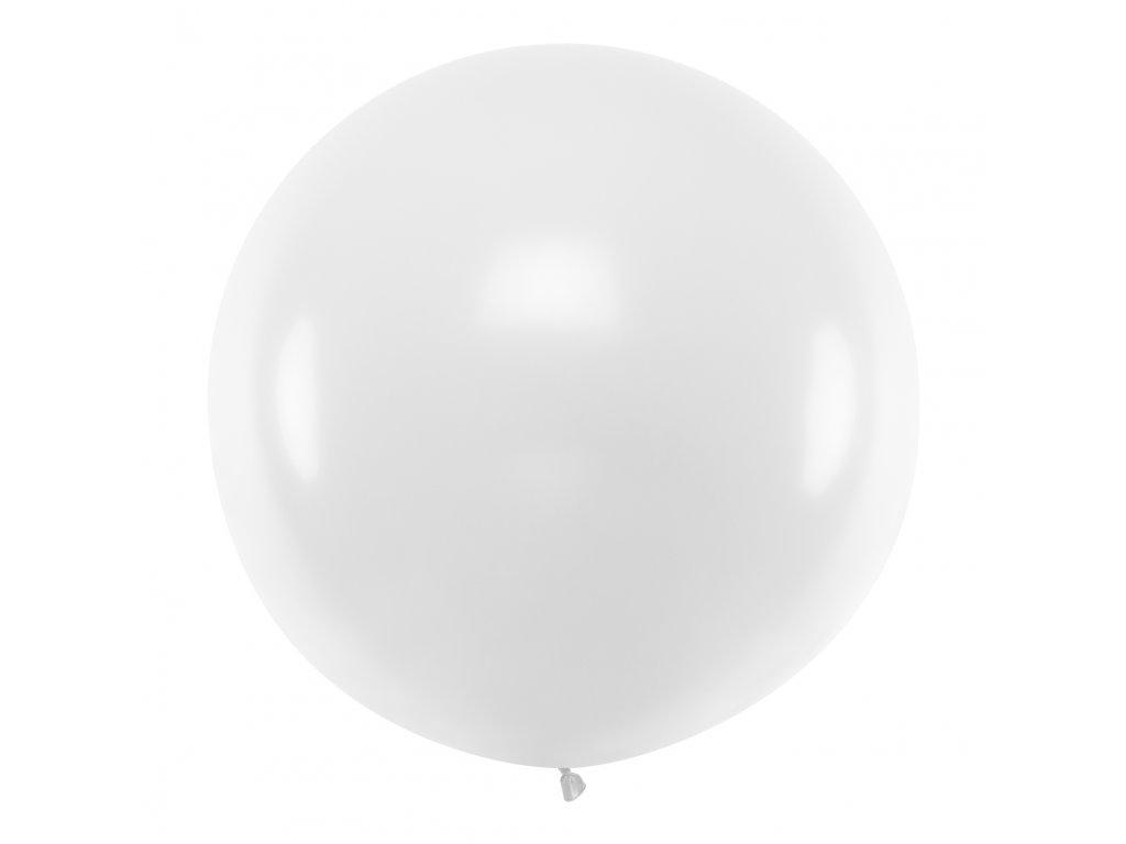 obri balonek pastel bily 1m OLBO 002 01