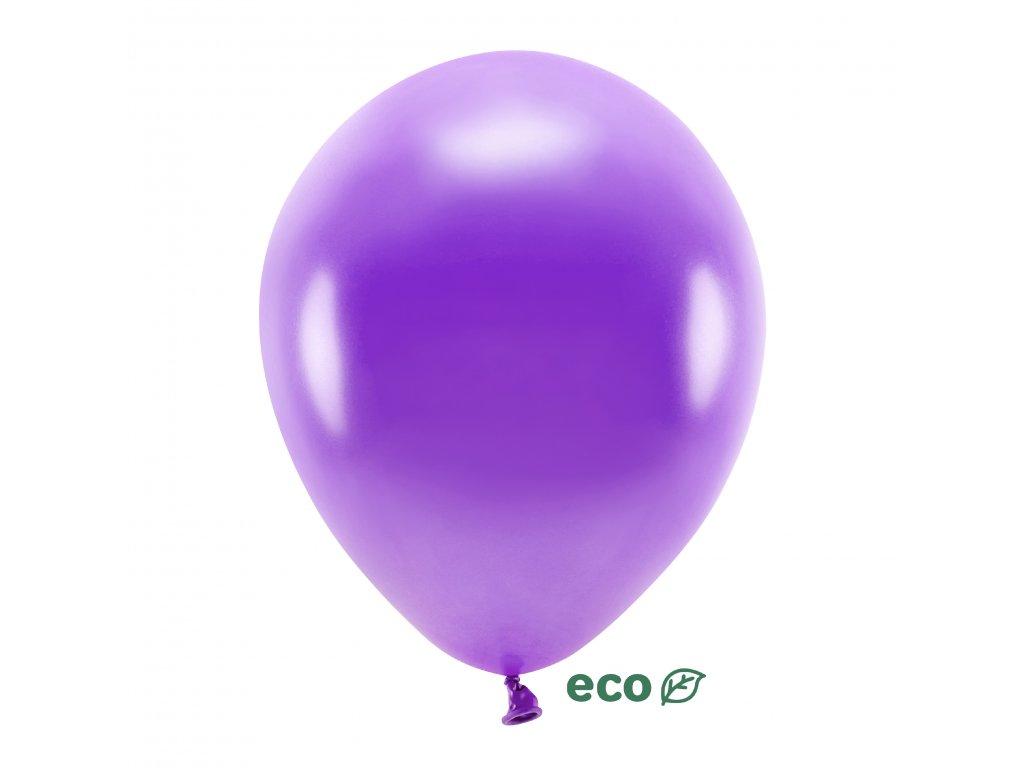 eco balonky metal fialove 30cm 10ks ECO30M 014 10 01