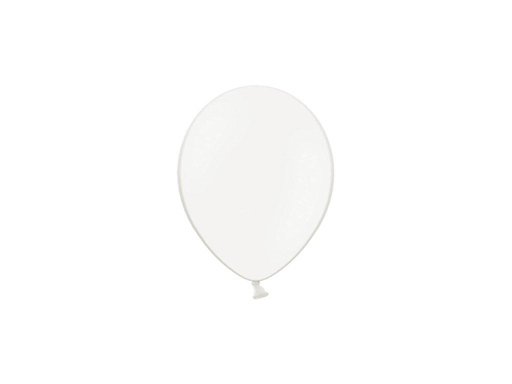 balonek pastelovy bily 25cm
