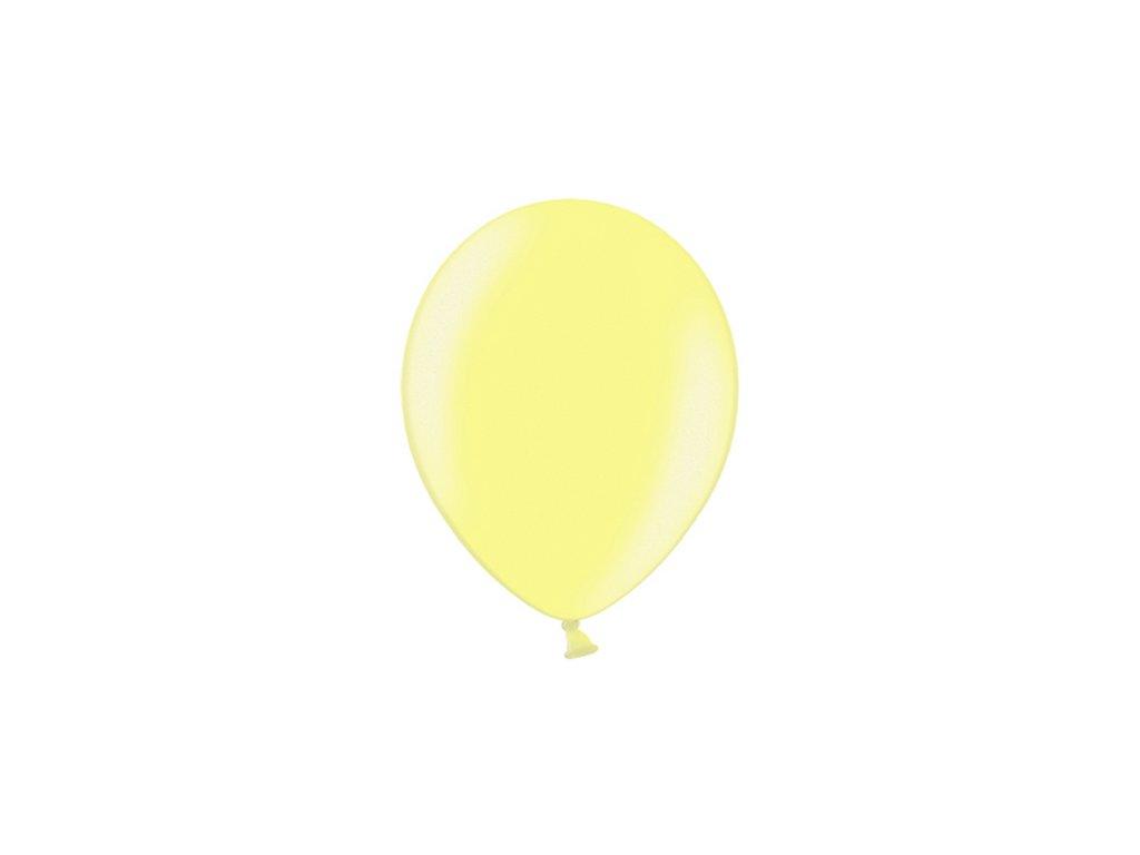 balonek metalicky zluty 23cm CB9M 084