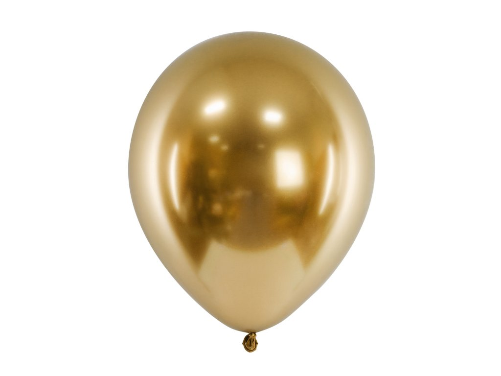 balonek leskly zlaty 30cm 01