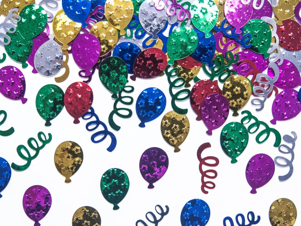Konfety party mix metalicke mix barev 15g KONS26 01