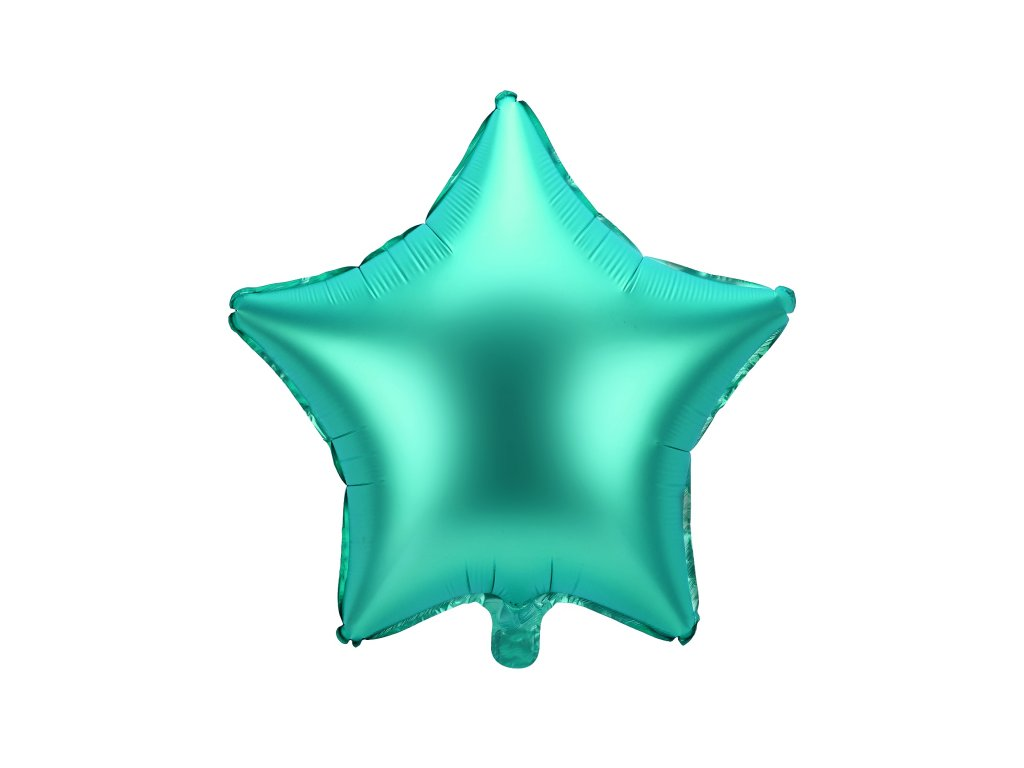 foliovy balonek hvezda zeleny 48cm FB3S 012 01