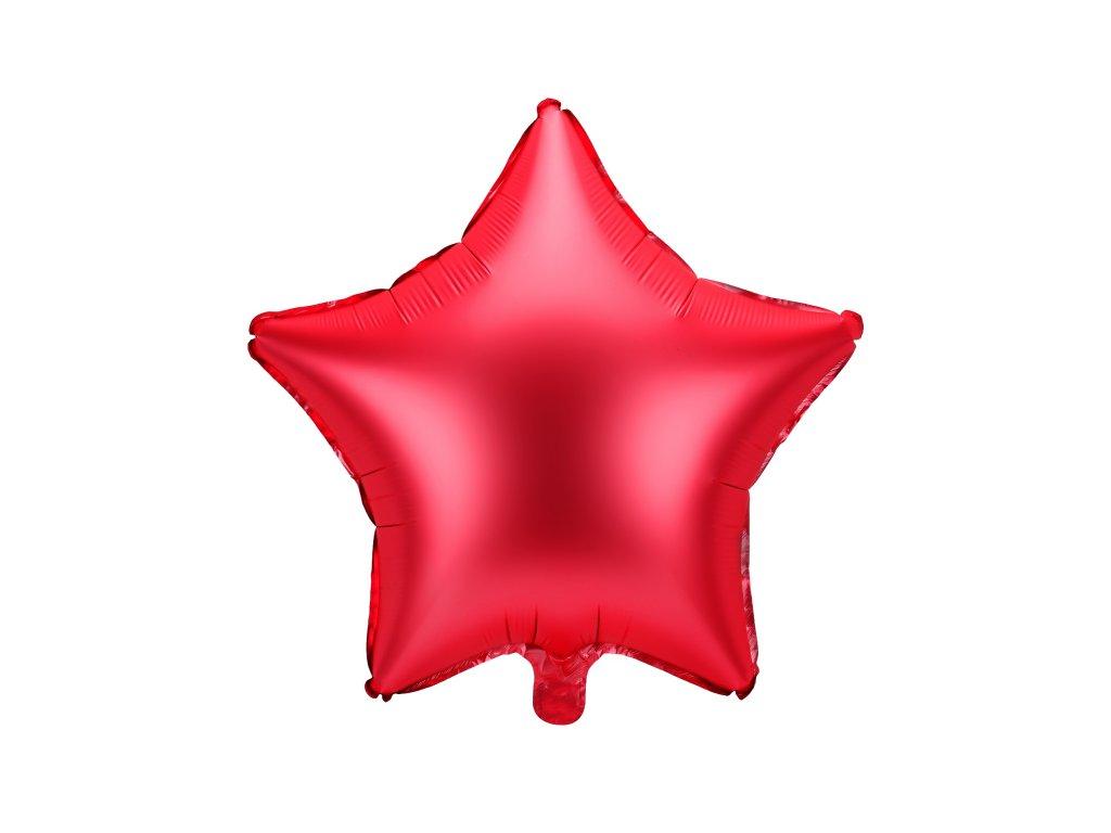 foliovy balonek hvezda cerveny 48cm FB3S 007 01