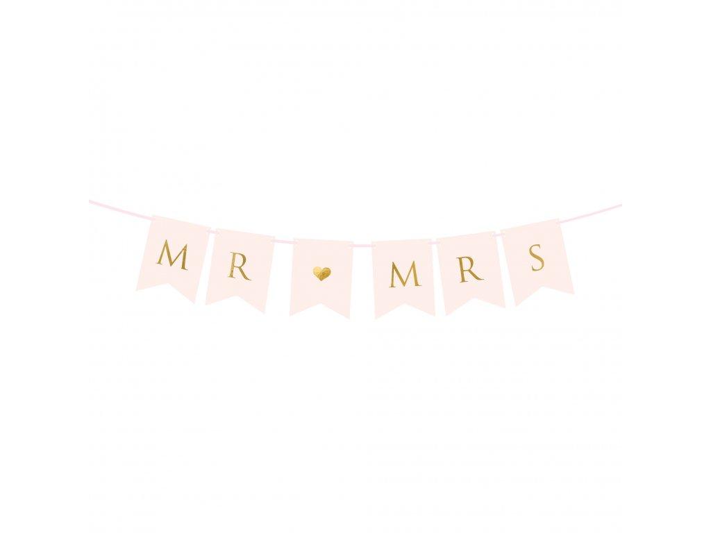 banner mr mrs 15x85cm GRL66 081J 01
