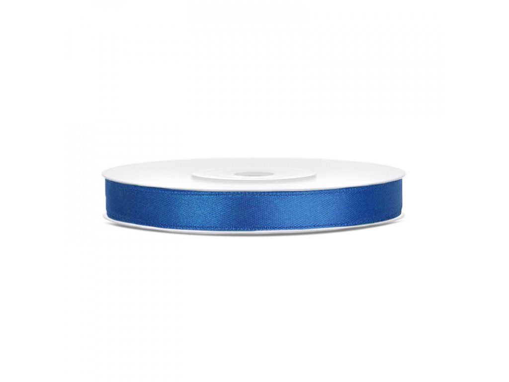 stuha saten kral modra 6mmx25m TS6 074R 01