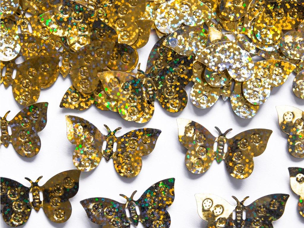konfety motylci holograf zlaté 15g KONS32 019 01
