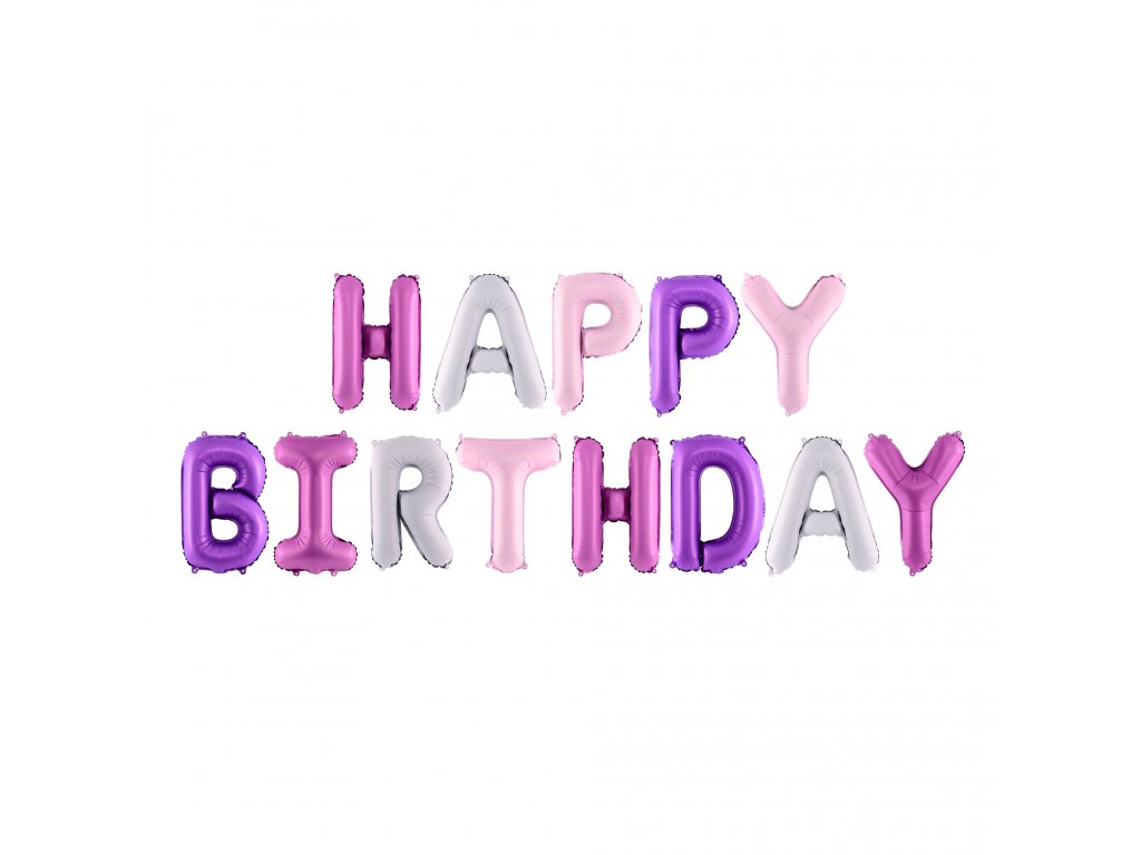 foliove balonky happy birthday mix FB6P 000 01
