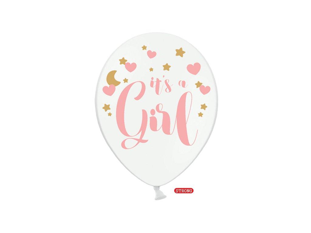 balonky its a girl bile 30cm 6ks SB14P 233 008 6 01