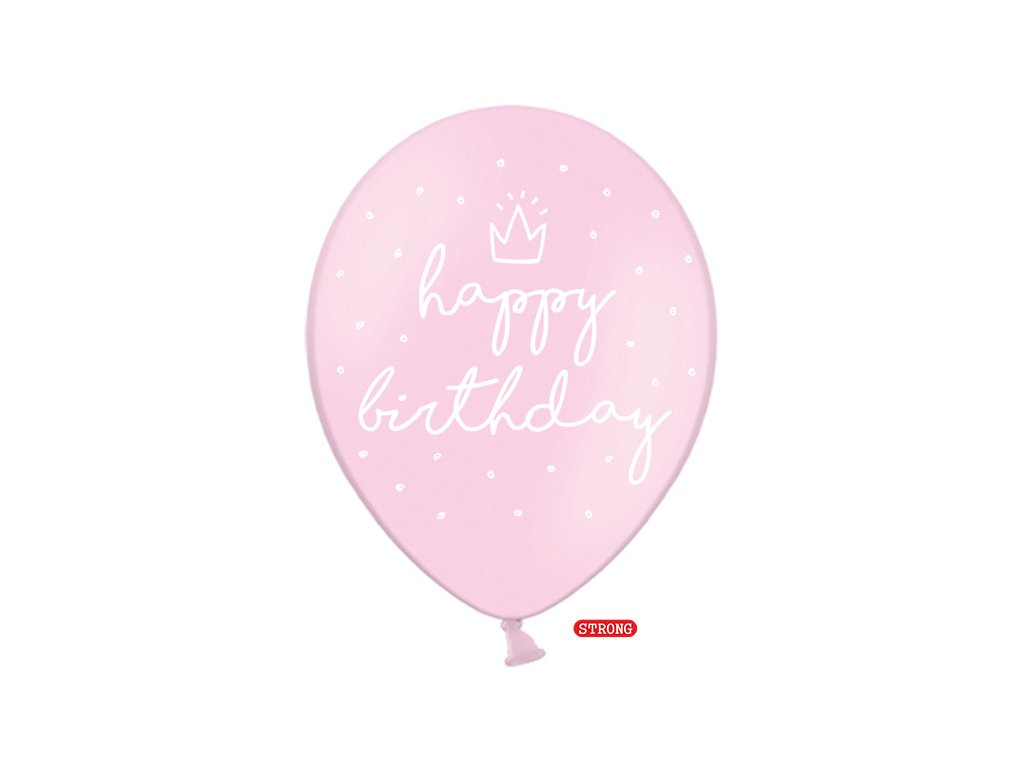 balonky happy birthday ruzove 30cm 6ks SB14P 244 081J 6 01