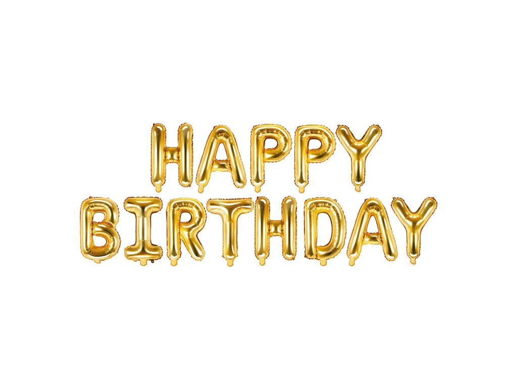 foliove balonky happy birthday metal FB6M 019 01