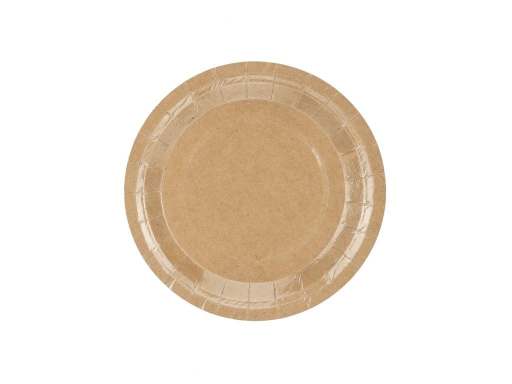 papir talir prirodni 18cm 6ks TPP35 031 01