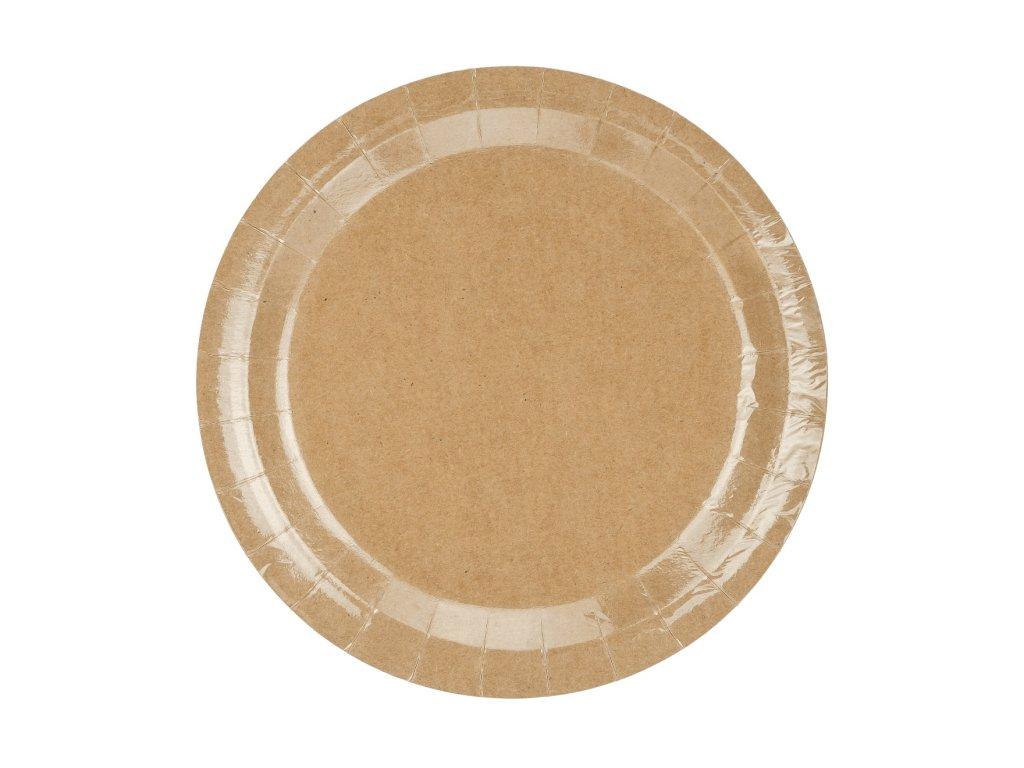papir talir prirodni 23cm 6ks TPP36 031 01
