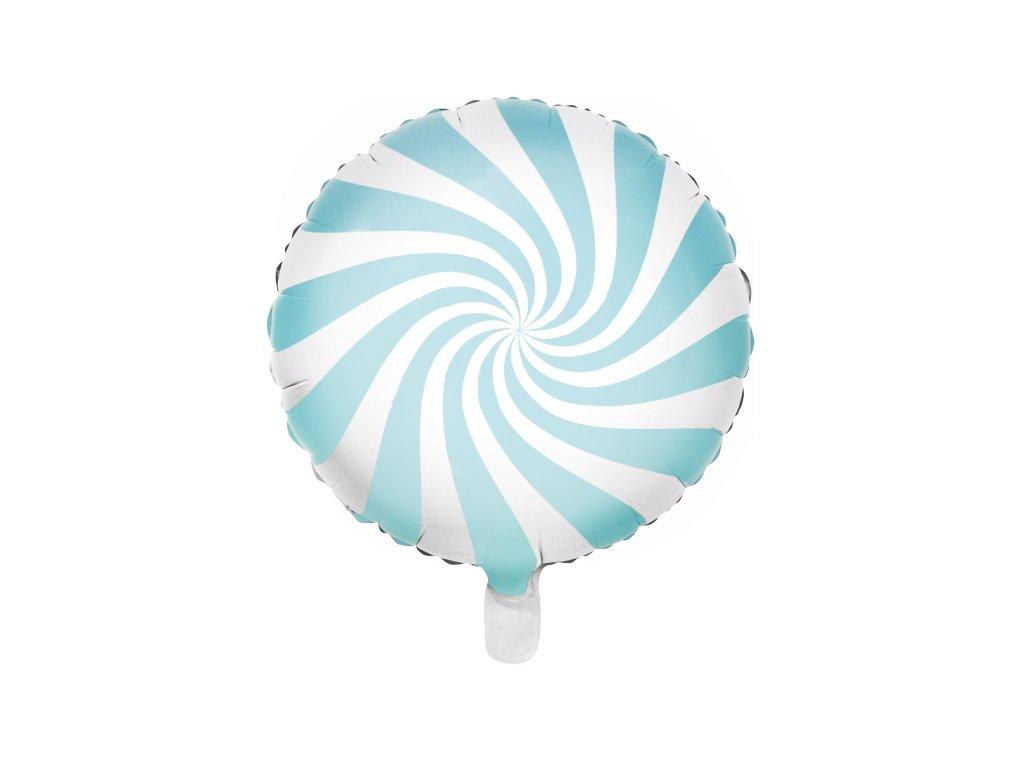 foliovy balonek bonbon sv modry pastel 45cm FB20P 001J 01
