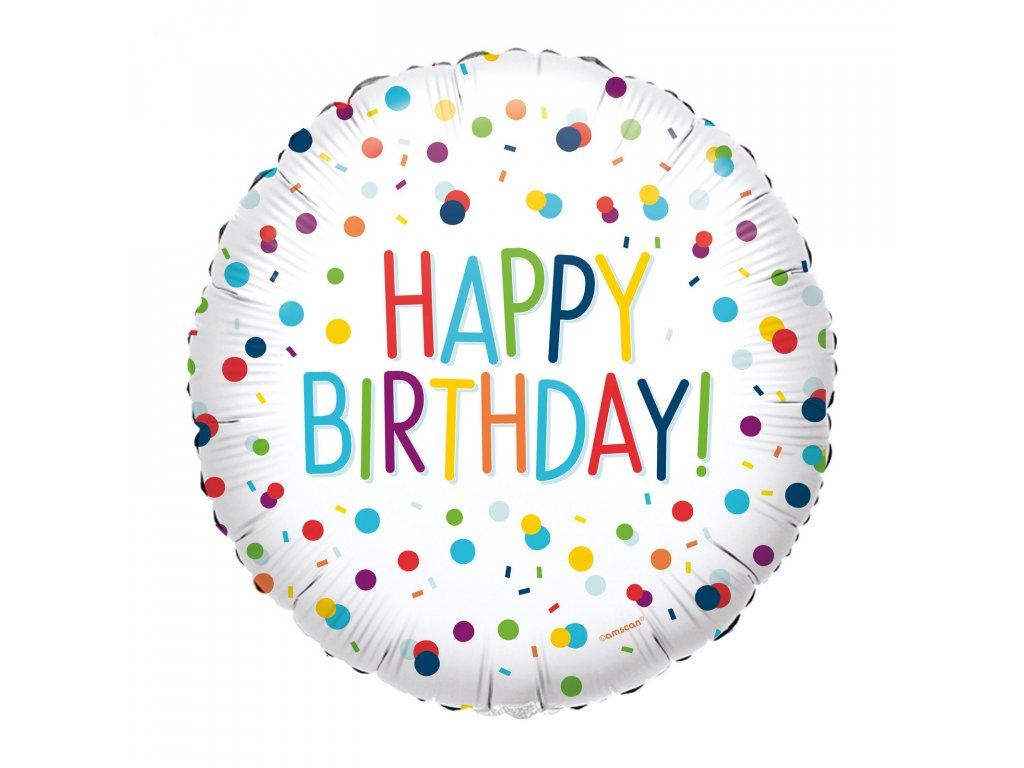 foliovy balonek happy birthday 40cm S40 4134001 01