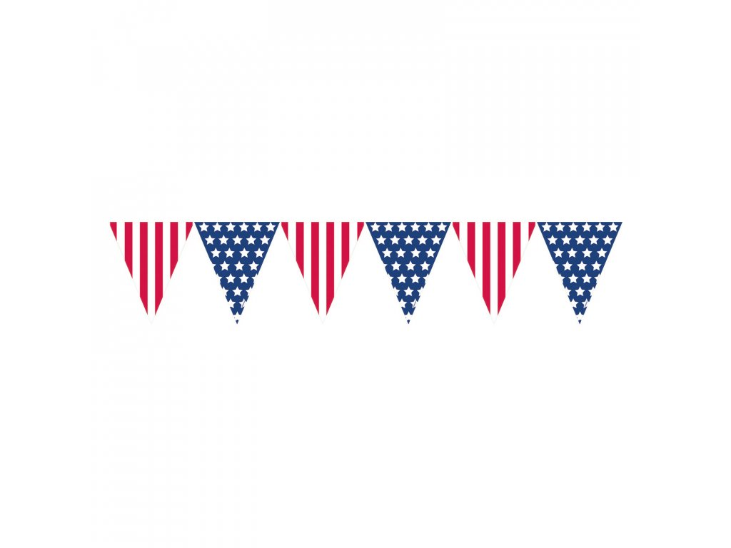 girlanda vlajky USA 365x25,4cm 120057