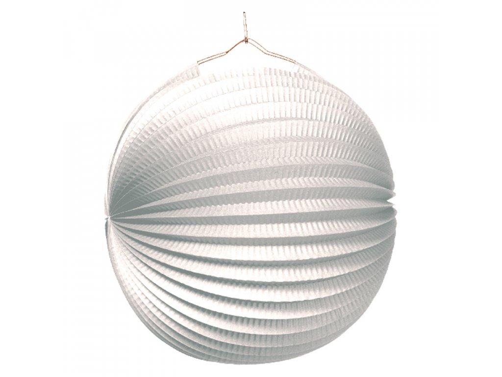 lampion bily 25cm 1529 01