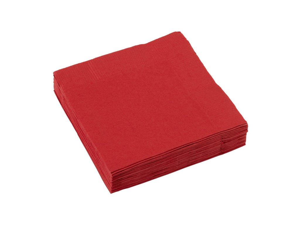 ubrousky cervene 25x25cm 20ks 50220 40 01
