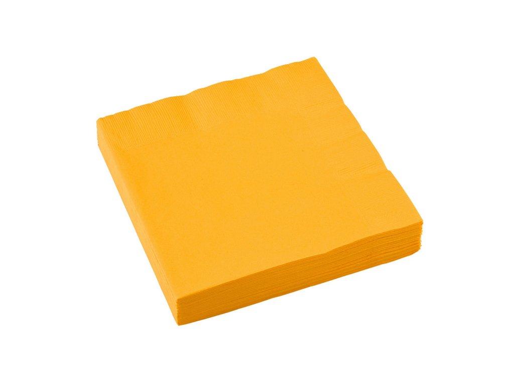 ubrousky zlute 33x33cm 20ks 51220 09 01