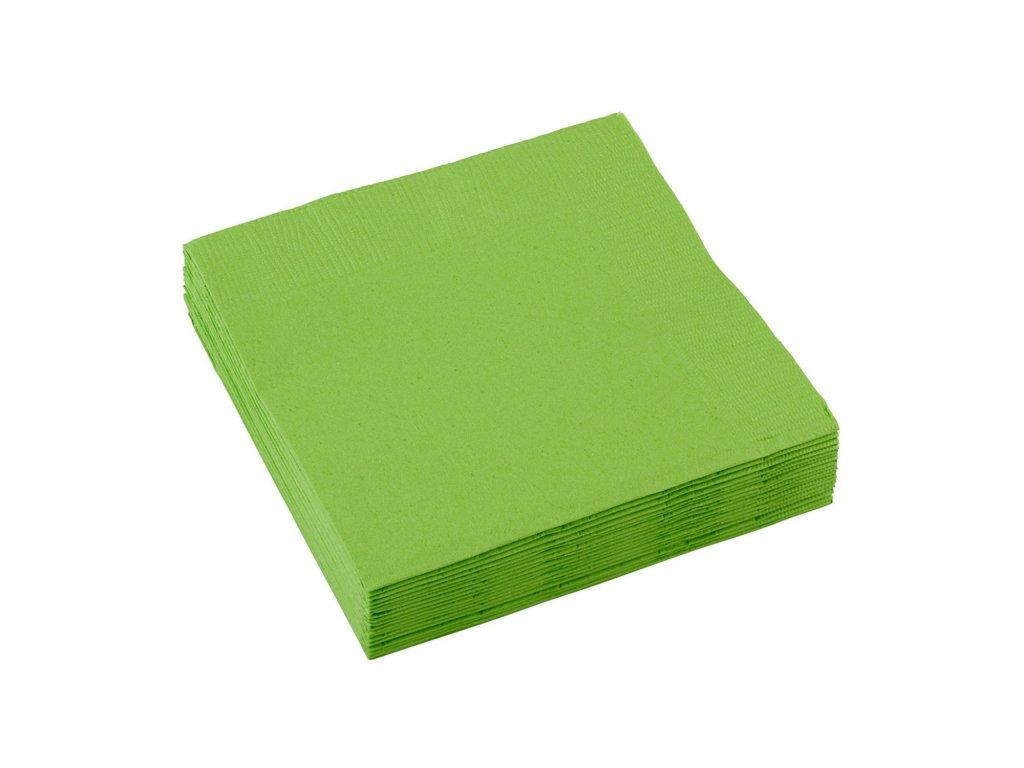 ubrousky zelene 25x25cm 20ks 50220 53 01