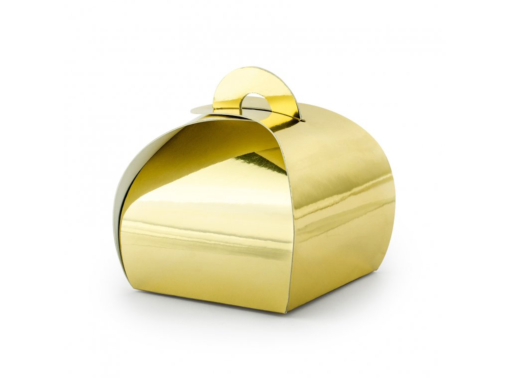 krabicky vysluzka zlata 6x6x5,5cm 10ks PUDP23 019M 01
