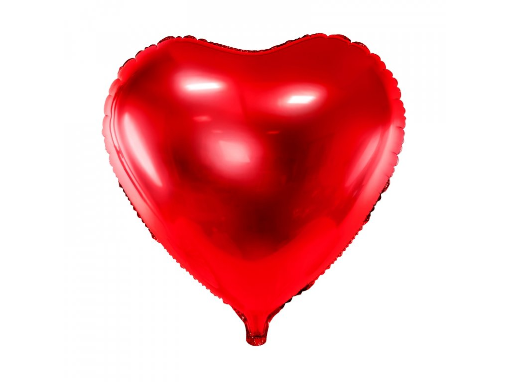foliovy balonek srdce cervene 61cm FB23M 007 01