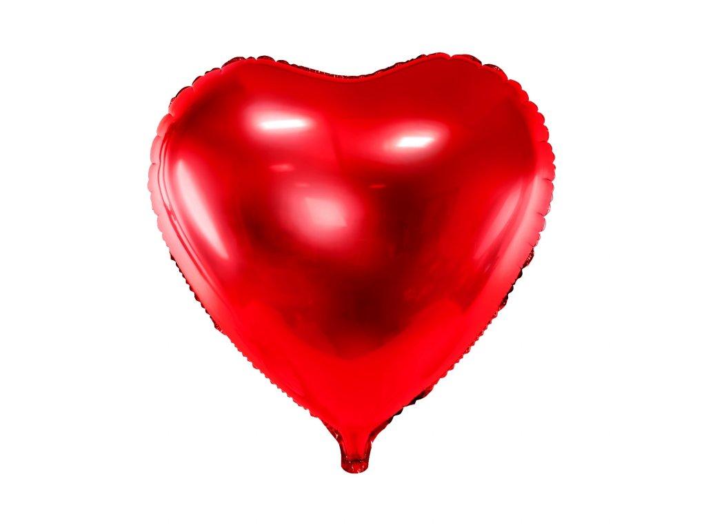 foliovy balonek srdce cervene 45cm FB9M 007 01