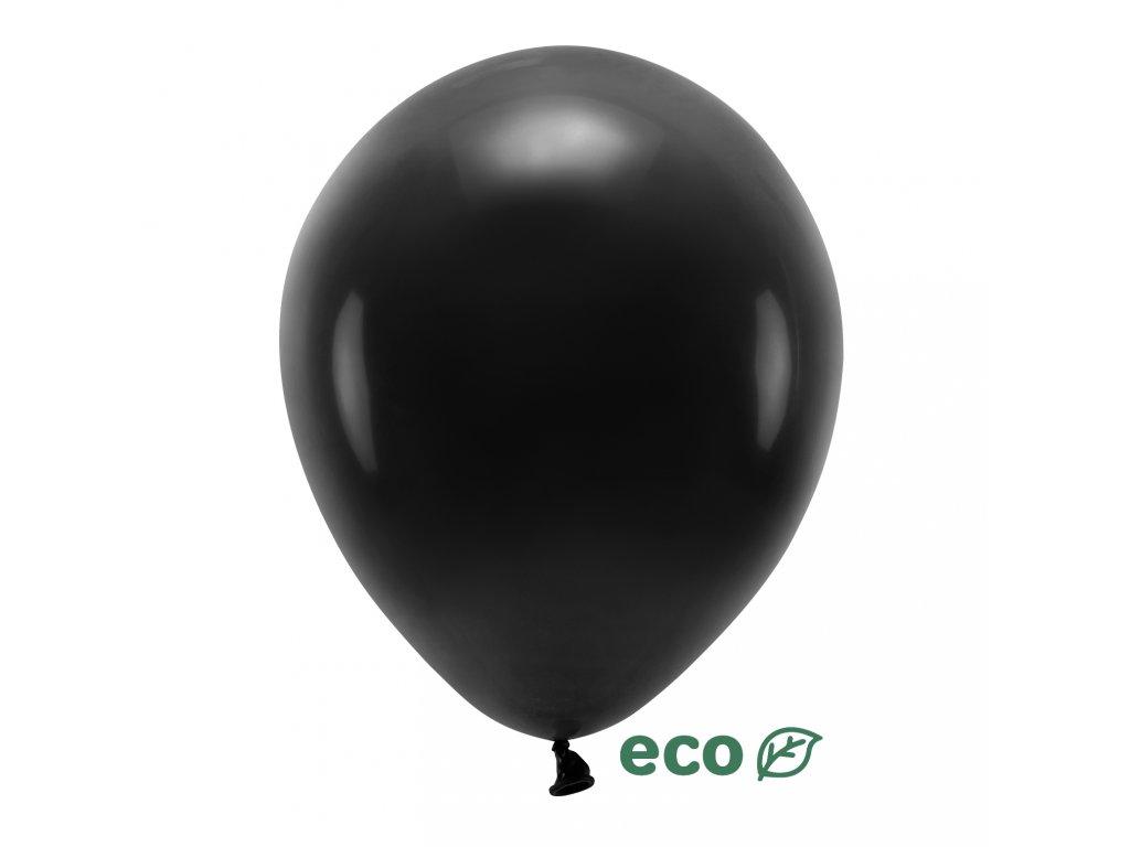 eco balonky pastel cerny 30cm 10ks ECO30P 010 10 01