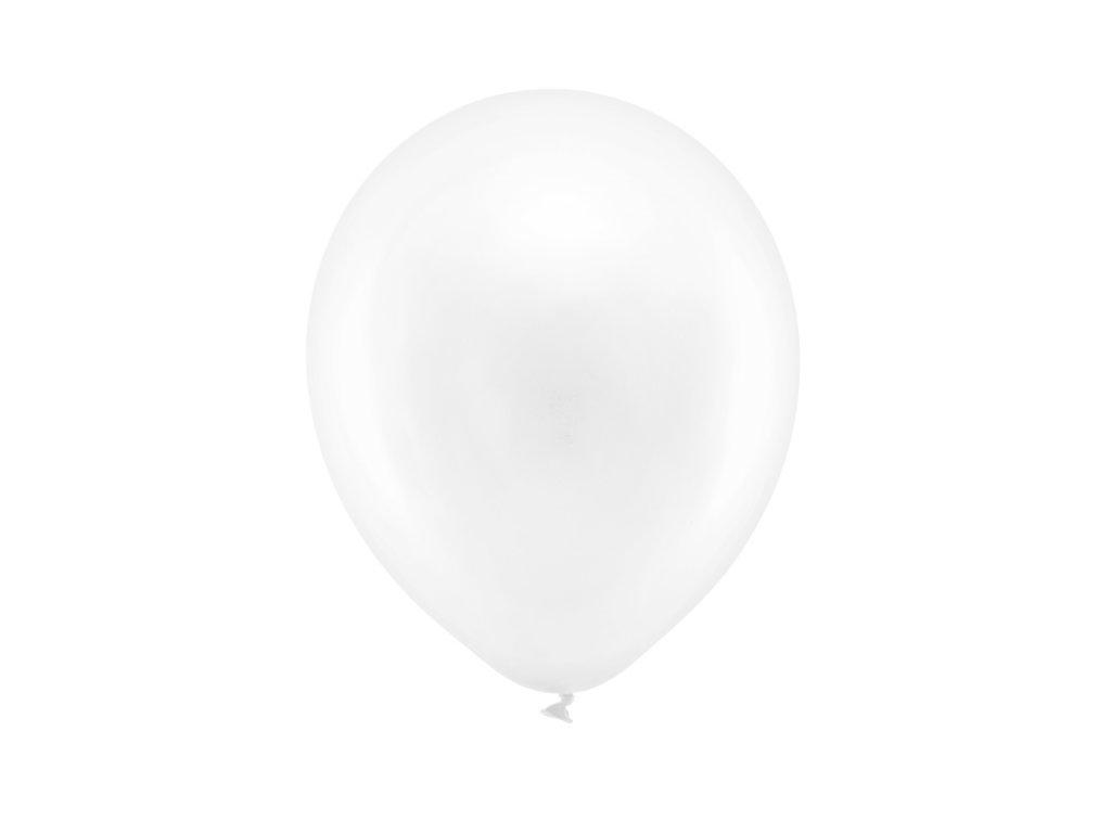 balonek metalicky bily 23cm RB23M 008