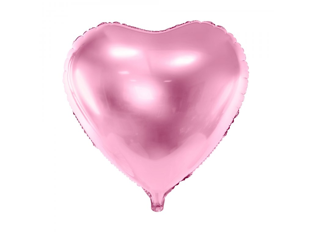foliovy balonek srdce sv ruzove 45cm FB9M 081J 01