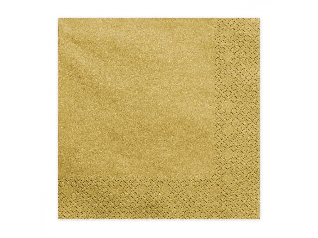 ubrousky zlate metal 33x33cm 20ks SP33 1 019ME 01