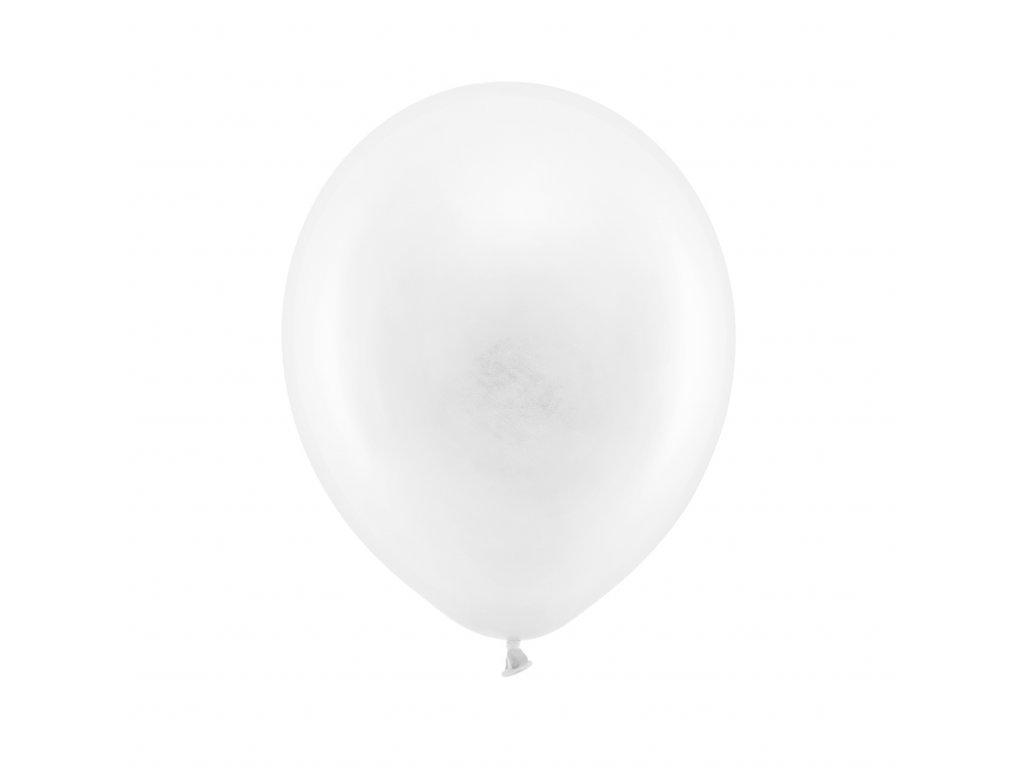 balonky pastelove bile 23cm 10ks RB23P 008 10