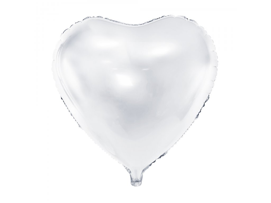 foliovy balonek srdce bile 61cm FB23M 008 01