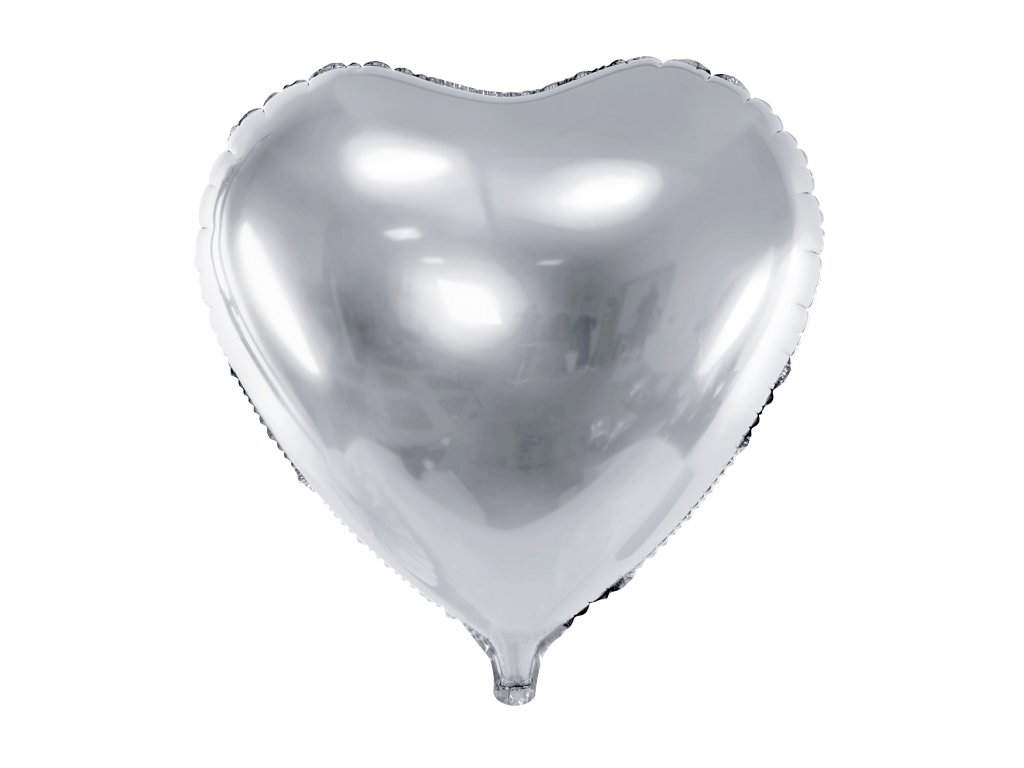 foliovy balonek srdce stribrne 61cm FB23M 018 01