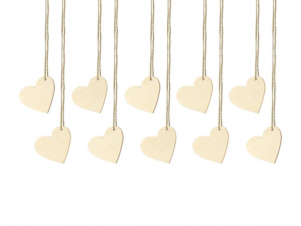 drevene jmenovky srdce 6x5cm 10ks WS1 100 01