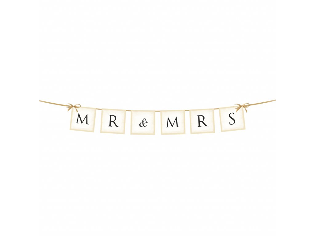 banner mr mrs 77cm GRL20 01