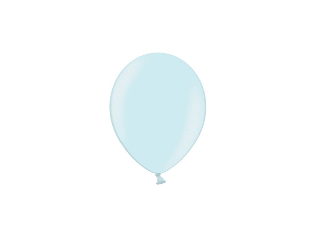 balonek nebesky modry metal 25cm CB10M 011 01