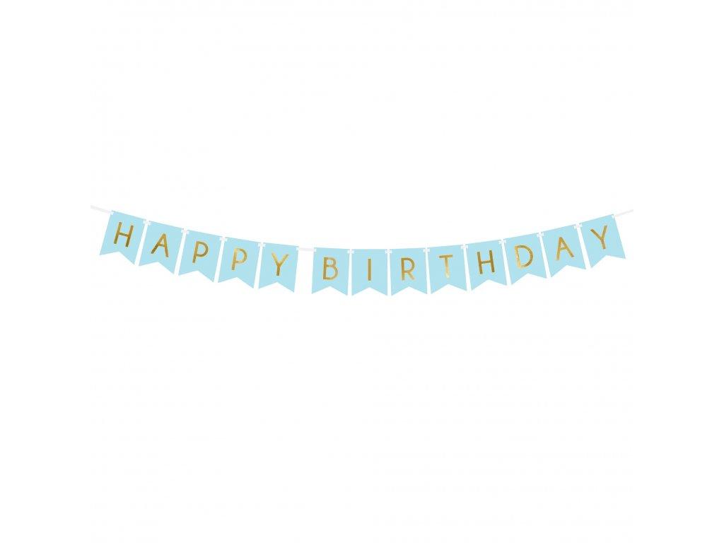 banner happy birthday sv modry 15x175cm GRL57 001J 01