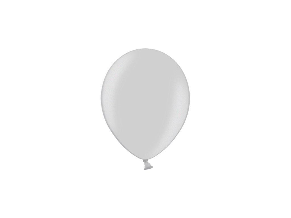 balonek stribrny metal 25cm CB10M 018 01
