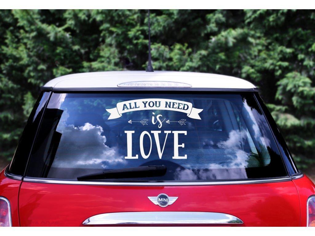 samolepka auto all you need is love 33x45cm CS1 008 01