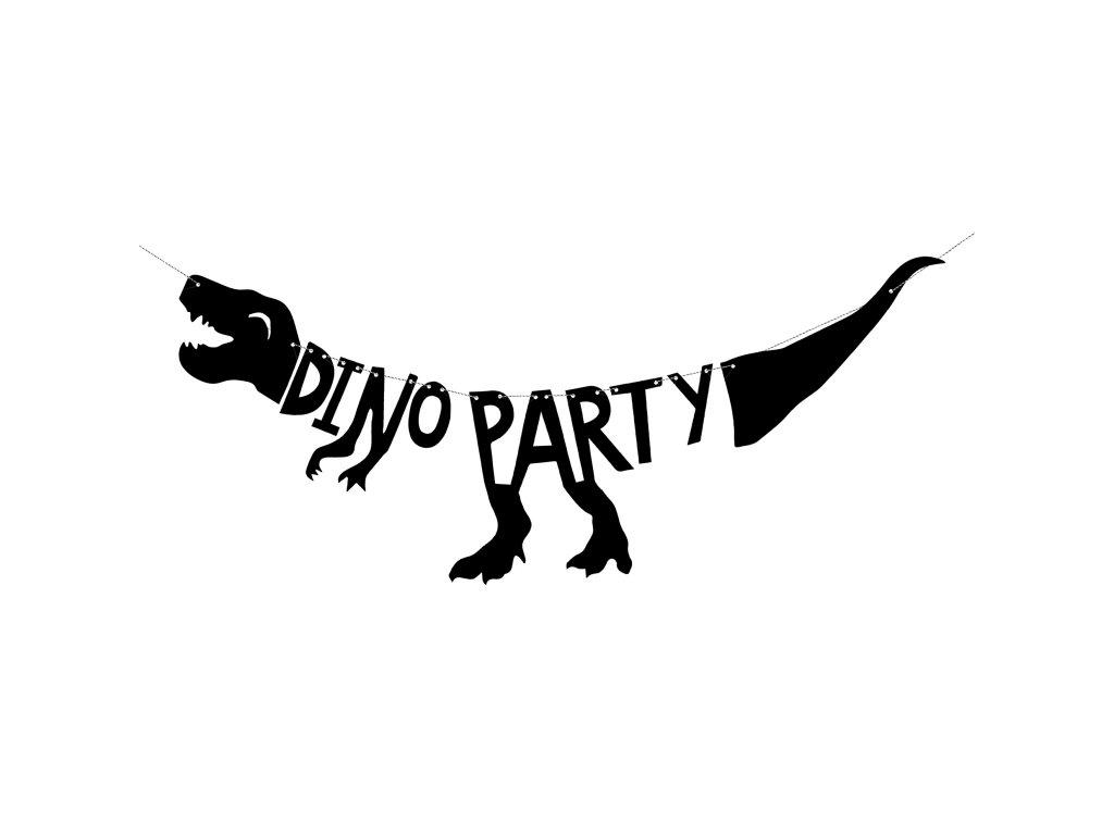 banner Dino Party cerny dino 20x90cm GRL40 01