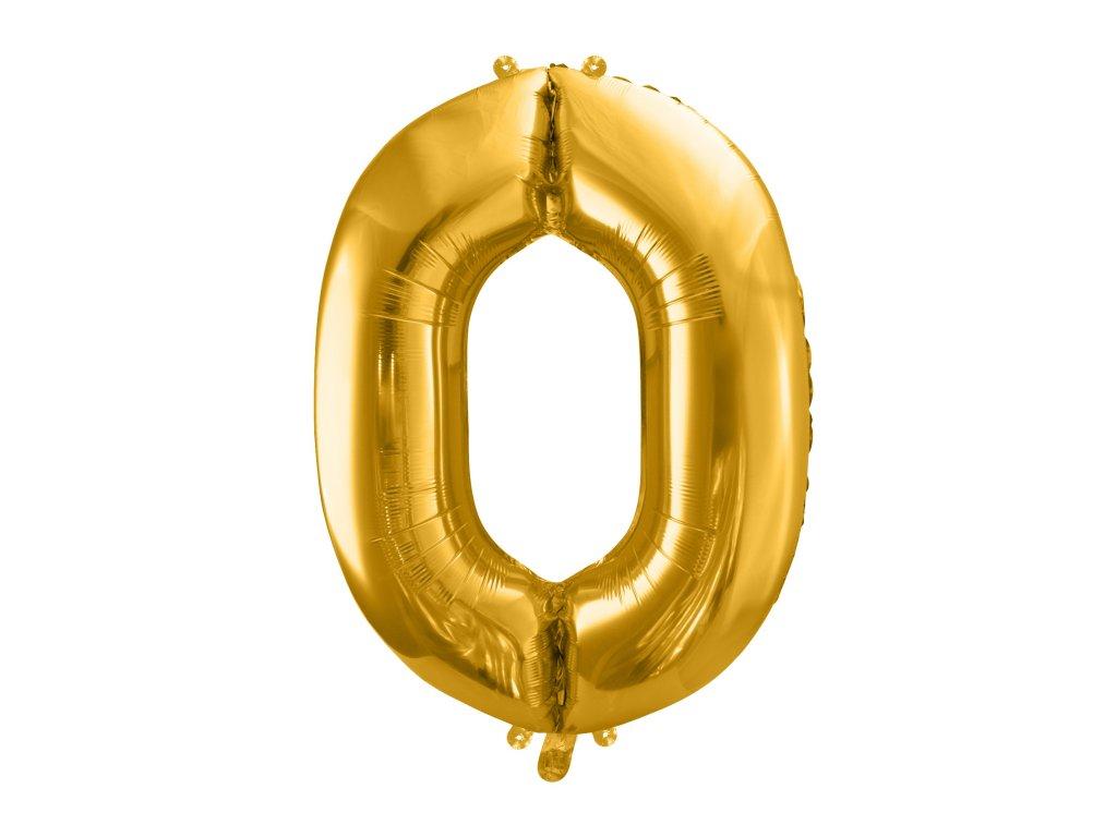 balonek cislo 0 zlaty 86cm FB1M 0 019 01