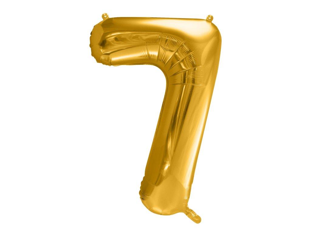 balonek cislo 7 zlaty 86cm FB1M 7 019 01