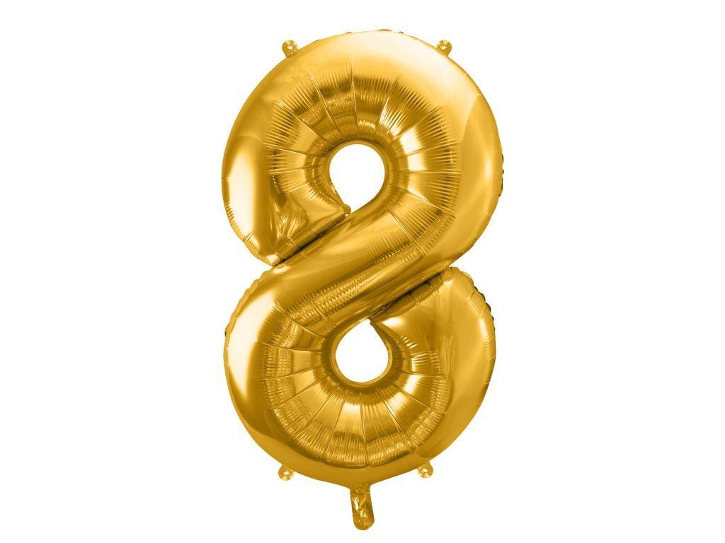 balonek cislo 8 zlaty 86cm FB1M 8 019 01
