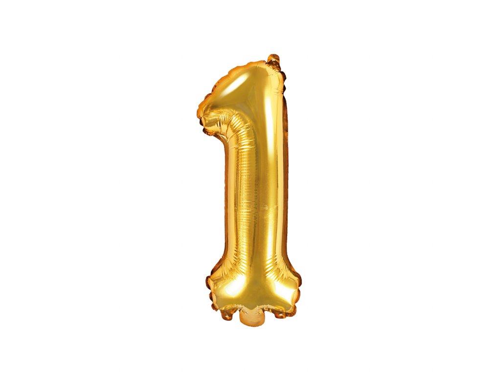 balonek cislo 1 zlaty 35cm FB10M 1 019 01